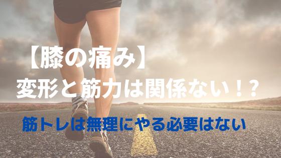 【膝の痛み】変形性膝関節症と筋力は関係ない|無理な筋トレは不要